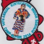Kintecoying Lodge #4 2014 Indian Seminar Participant Patch eA2014-1