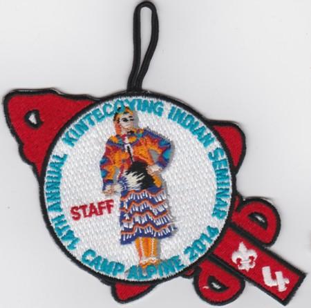 Kintecoying Lodge #4 2014 Indian Seminar Staff Patch eA2014-2