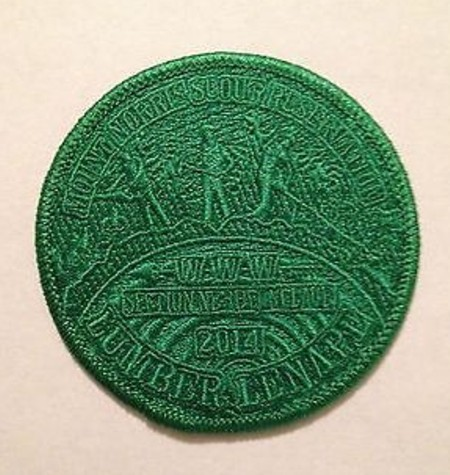 Section NE-3B 2014 Conclave Green Ghost Pocket Patch