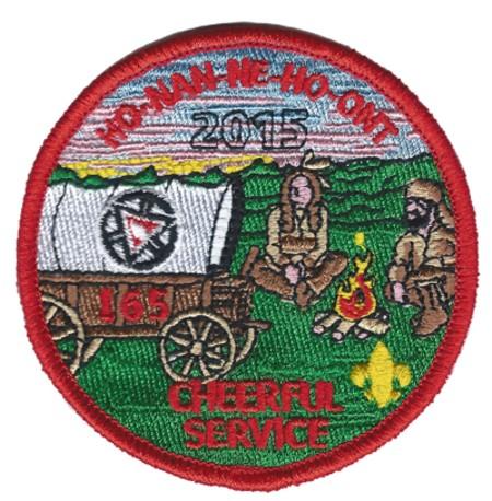 Ho-Nan-Ne-Ho-Ont Lodge #165 2015 Cheerful Service Event Patch eR2015