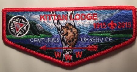 Kittan Lodge #364 Centennial Flap S33