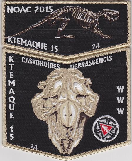 Ktemaque Lodge #15 2015 numbered Fundraiser Delegate Set S63X34