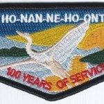 Ho-Nan-Ne-Ho-Ont Lodge #165 100th Anniversary OA Flap S39