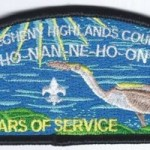 Ho-Nan-Ne-Ho-Ont Lodge #165 100th Anniversary OA BLK CSP X15