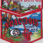Kittan Lodge #364 2015 NOAC Red Bordered Set S34X17