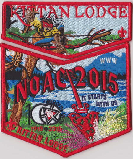 Kittan Lodge #364 2015 NOAC Red Bordered Set S34X17