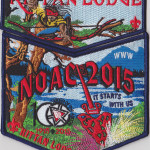 Kittan Lodge #364 2015 NOAC Dark Blue Bordered Set S35X18