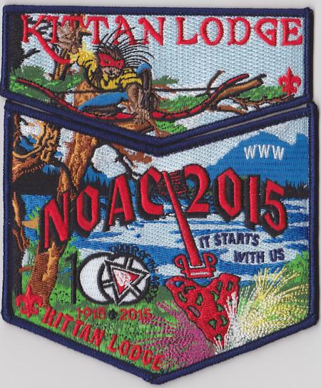 Kittan Lodge #364 2015 NOAC Dark Blue Bordered Set S35X18
