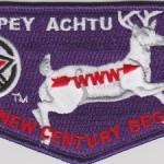 Tschipey Achtu Lodge #95 100th OA Centennial Flap S17