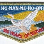 Ho-Nan-Ne-Ho-Ont Lodge #165 100th Anniversary OA Flap S40