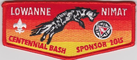 Lowanne Nimat Lodge #219 Centennial Bash Sponsor Flap S18