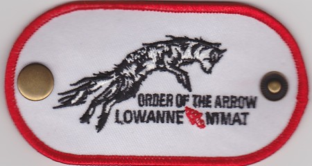 Lowanne Nimat Lodge #219 Neckerchief Slide X5
