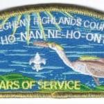 Ho-Nan-Ne-Ho-Ont Lodge #165 100th Anniversary OA CSP X16