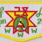 Half Moon Lodge #28 100 Anniversary OA Brotherhood Flap S47