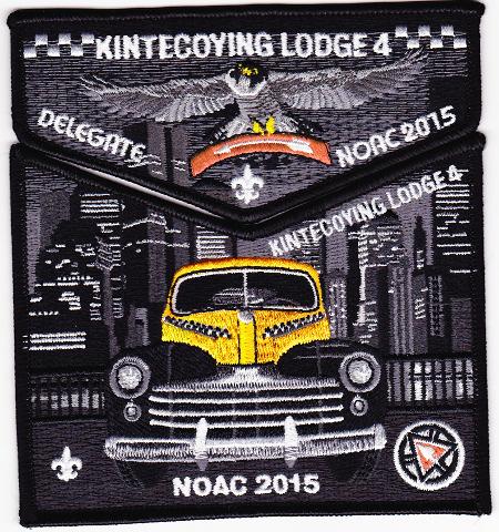 Kintecoying Lodge #4 2015 NOAC Delegate Set S7/X4