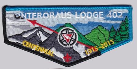 Onteroraus Lodge #402 OA Centennial Flap S60