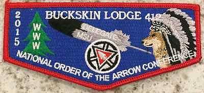 Buckskin Lodge #412 2015 NOAC Delegate Flap S80