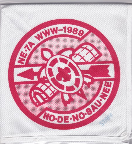 Section NE-7A 1989 Conclave Staff Neckerchief