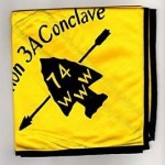 Section NE-3A 1974 Conclave Neckerchief – Black Piping