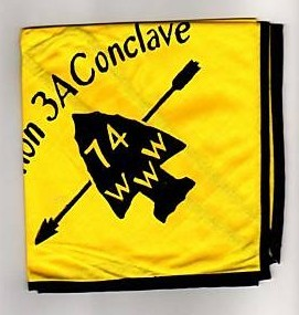 Section NE-3A 1974 Conclave Neckerchief - Black Piping