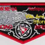 Tschipey Achtu Lodge #95 Section NE 3A 2015 NOAC Flap S18