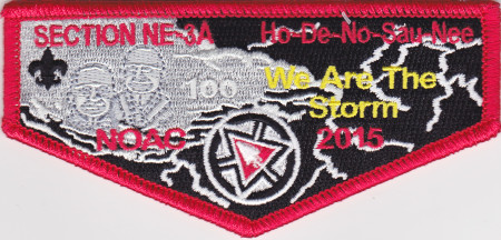 Ho-De-No-Sau-Nee Lodge #159 Section NE-3A 2015 NOAC Flap S58