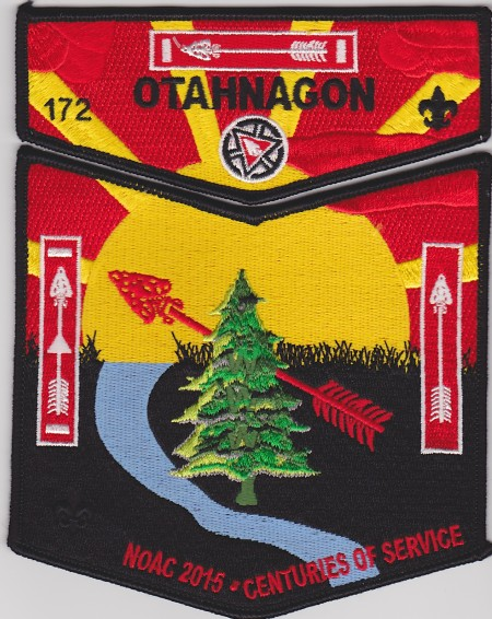 Otahnagon Lodge #172 2015 NOAC Black Border Set  S32 X5