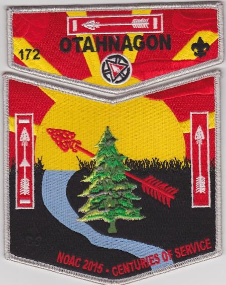 Otahnagon Lodge #172 2015 NOAC Set 4 Silver Mylar Border S35 X8 Delegate