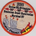 Section NE-3B 2013 Conclave Orange Border Pocket Patch