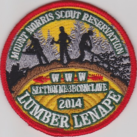 Section NE-3B 2014 Conclave Red Pocket Patch