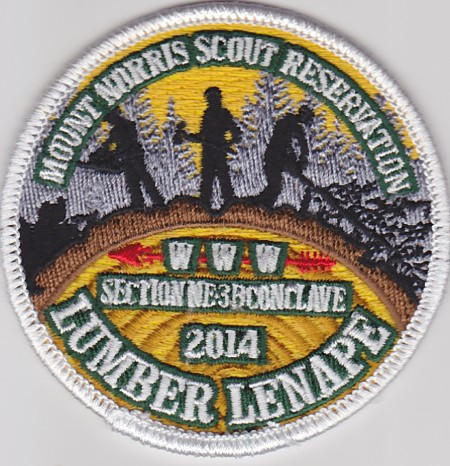 Section NE-3B 2014 Conclave White Pocket Patch