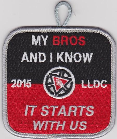 Kintecoying Lodge #4 2015 Youth LLDC Patch 4eX2015-1