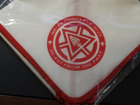 Section NE-4A 2015 Conclave Neckerchief Red Piping