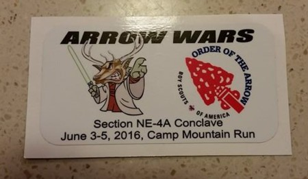 Section NE-4A 2016 Conclave Promotional Sticker