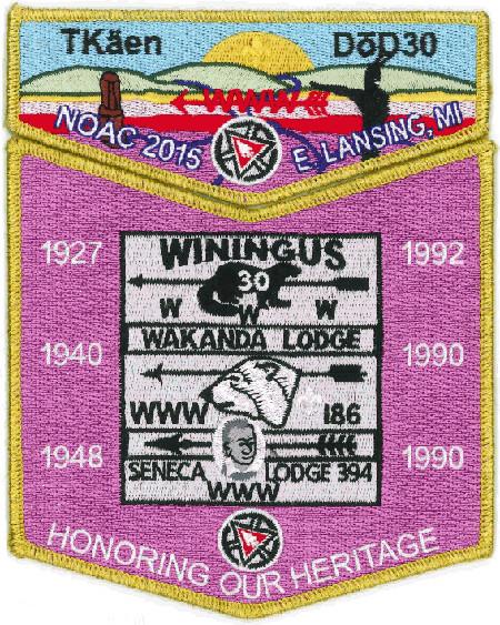 Tkaen DoD Lodge #30 2015 NOAC Contingent Set S39 X10