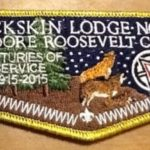 Look Back – Buckskin Lodge #412 Gold Mylar OA Centennial Flap S81