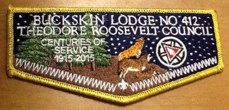 Buckskin Lodge #412 Gold Mylar OA Centennial Flap S81