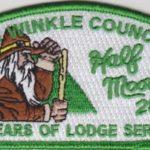 Half Moon Lodge #28 70 Years of Lodge Service Green Bordered CSP X19