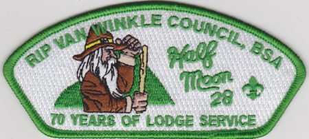 Half Moon Lodge #28 70 Years of Lodge Service Green Bordered CSP X19