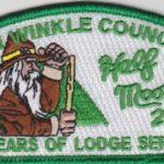 Half Moon Lodge #28 70 Years of Lodge Service Green Mylar Bordered CSP X20