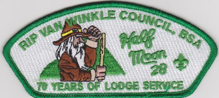 Half Moon Lodge #28 70 Years of Lodge Service Green Mylar Bordered CSP X20