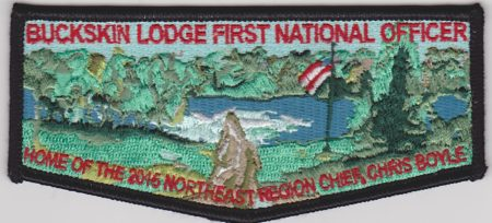 Buckskin Lodge #412 First National Officer NER Chief Chris Boyle Black Bordered Flap S83