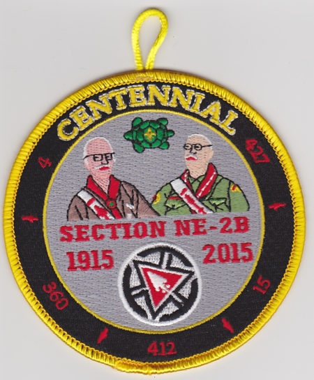 Section NE-2B Centennial Involvement Award 1915-2015