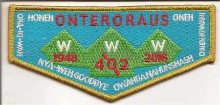 Onteroraus Lodge #402 OA Death Flap S61