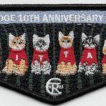 Kittan Lodge #364 10th Anniversary Flap S39