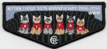 Kittan Lodge #364 10th Anniversary Flap S39