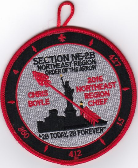 Section NE-2B 2016 Northeast Region Chief Patch