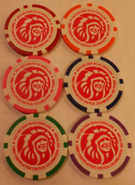 Section NE-4A 2013 Conclave Poker Chips