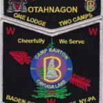 Otahnagon Lodge #172 One Lodge Two Camps – Barton SMY Set S39 X10