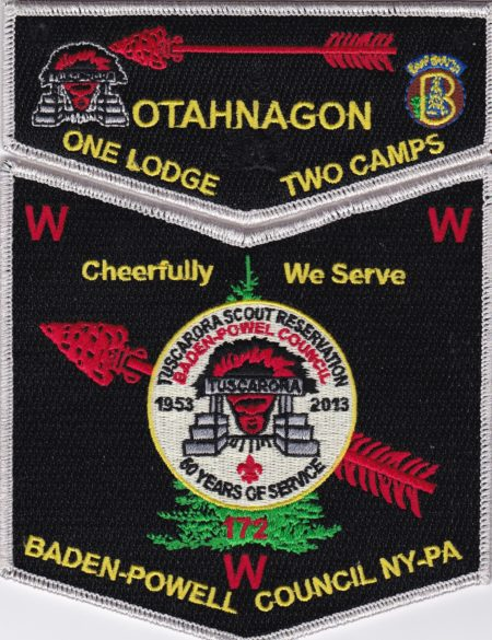 Otahnagon Lodge #172 One Lodge Two Camps - Tuscarora SMY Set S39 X11